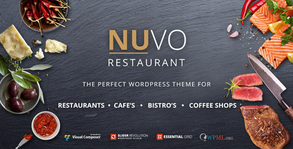 Nulled NUVO v5.6.3 - Restaurant, Cafe & Bistro WordPress Theme product logo