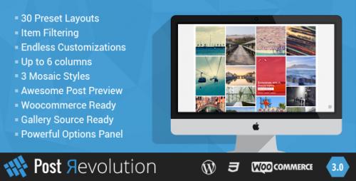 Nulled Post Revolution v3.0 - Amazing Grid Builder for WP - WordPress Plugin