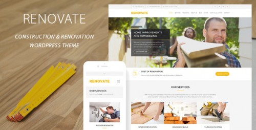 Nulled Renovate v3.5.1 - Construction Renovation WordPress Theme product photo