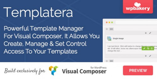 Nulled Templatera v1.1.11 - Template Manager for Visual Composer product snapshot