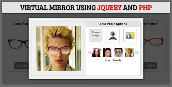 Virtual Mirror Using jQuery and PHP