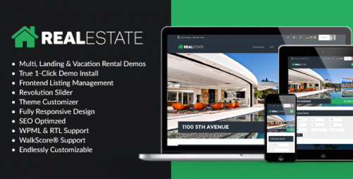 Nulled WP Pro Real Estate 7 v2.1.8 - Responsive Real Estate Theme Product visual