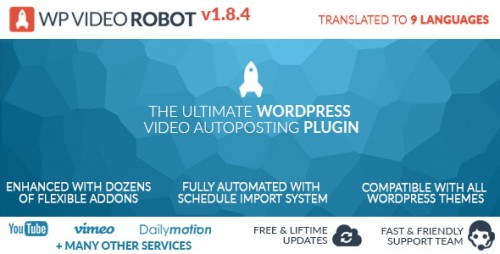 Nulled WordPress Video Robot Plugin v1.8.4 product photo