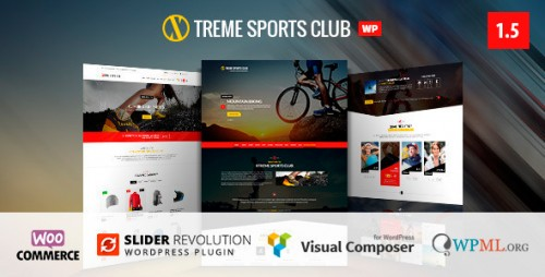 Nulled Xtreme Sports v1.5 - WordPress Club Theme picture