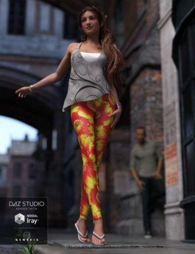 POSER - Fashion Leggings for Genesis 3 Female(s)