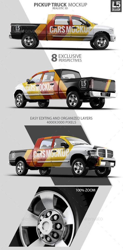 Pickup Truck Mock-Up