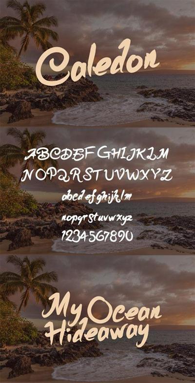 Scribble Font - Caledon