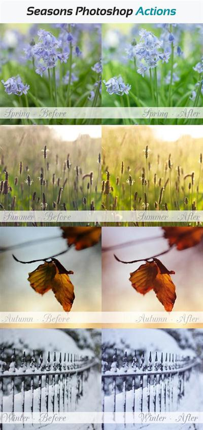 Seasons Photoshop Actions