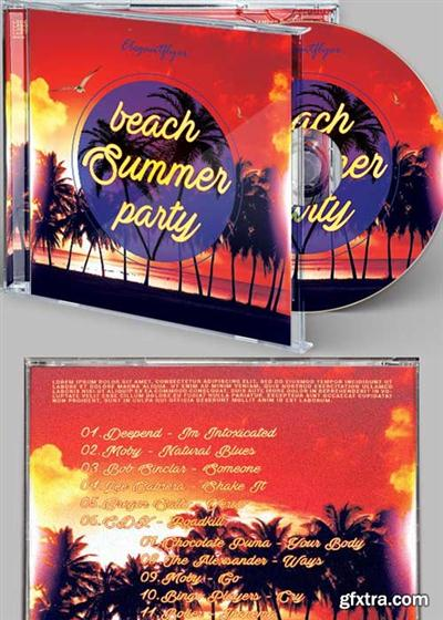 Summer Beach CD Cover PSD Template