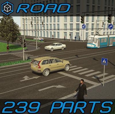 Turbosquid - 3D Road Elements Pack