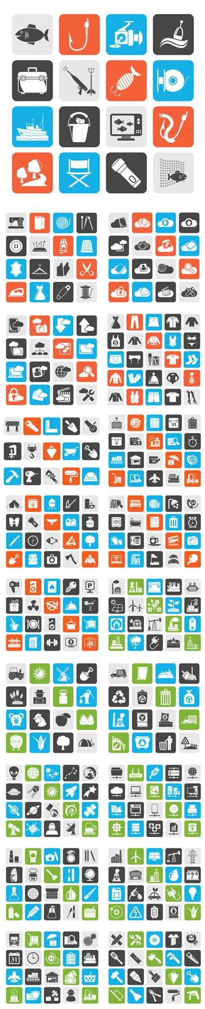 Vector 20 Different Icons Mix 1