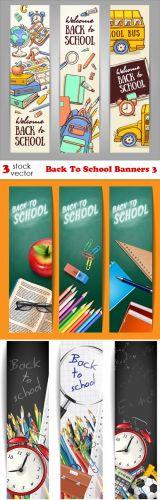 Vectors - Back To School Banners 3