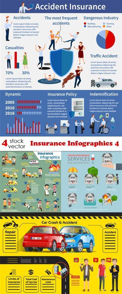 Vectors - Insurance Infographics 4