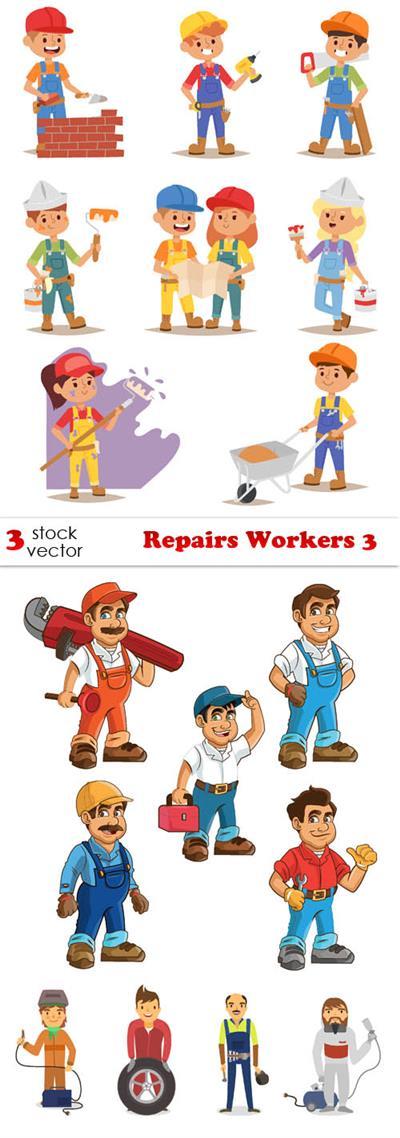 Vectors - Repairs Workers 3