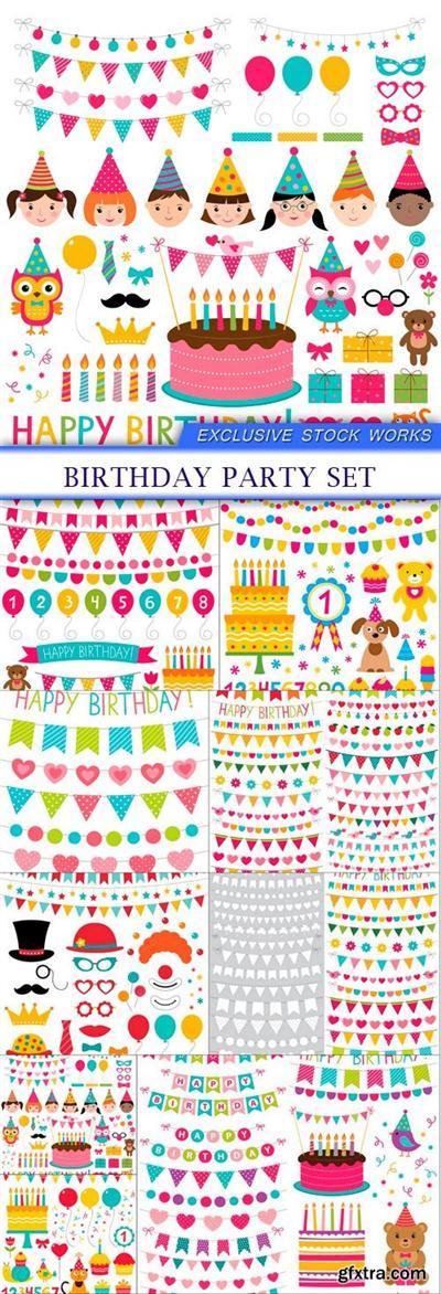birthday party set 9X EPS