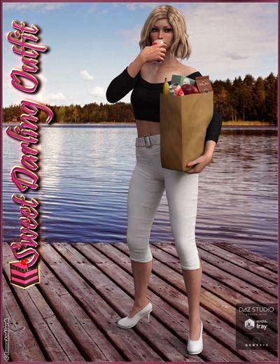 Sweet Darling Outfit and Groceries for Genesis 3 Female(s)
