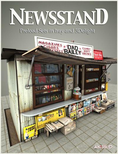 Daz 3D- News Stand Fbx