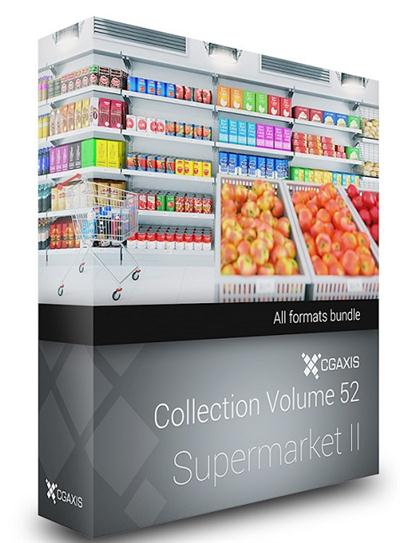 CGAxis Models (Volume 52) 3D Supermarket II