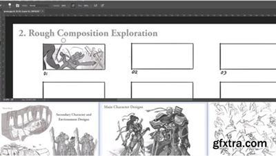 2D Action Shot Composition