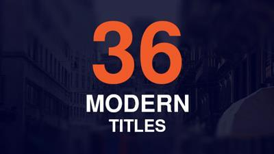 36 Modern Titles - Project for After Effects (Videohive)