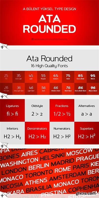 ATA ROUNDED Font Family 16 Fonts