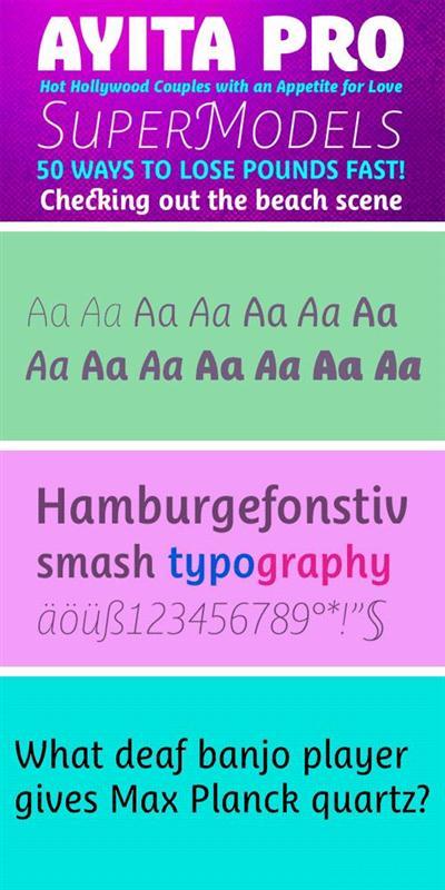 Ayita Pro Font Family