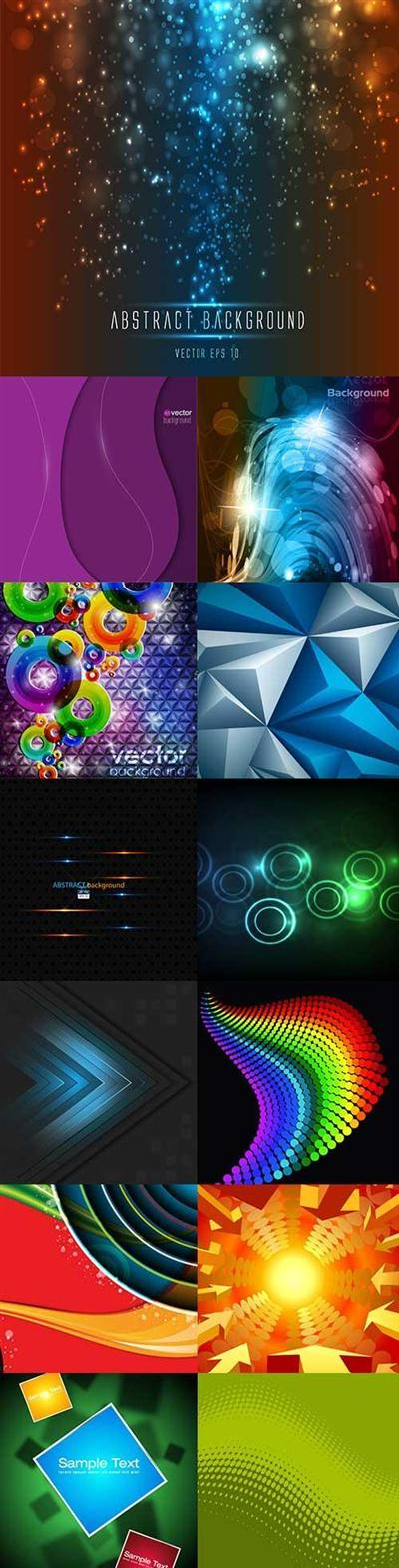 Bright colorful abstract backgrounds vector -50