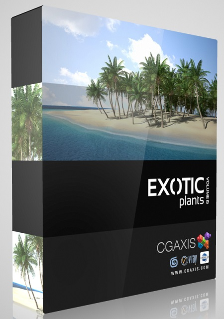 CGAxis Models Volume 15 Exotic Plants 3D Models