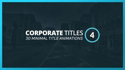 Corporate Titles 4 - Project for After Effects (Videohive)