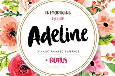 CreativeMarket - Adeline Typeface - Brush Script