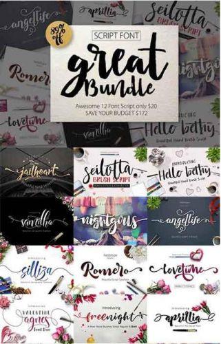 CreativeMarket - FONT BUNDLE (Great Bundle)