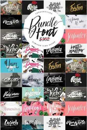 CreativeMarket - Font Bundle & Graphic