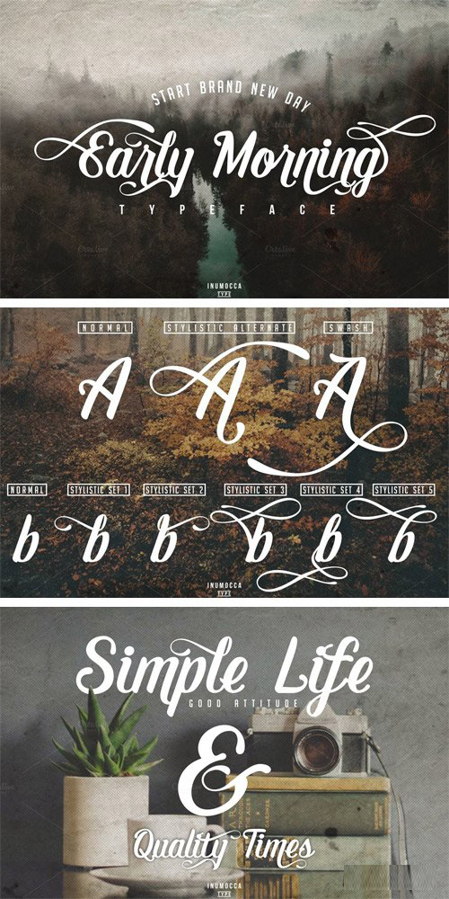 Early Morning Typeface 896900