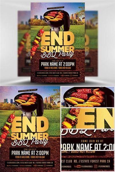 Flyer Template - End Summer BBQ Party