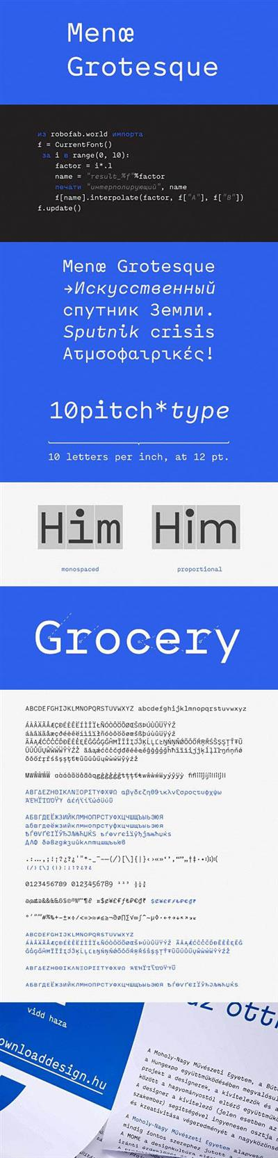 Font - Menoe Grotesque