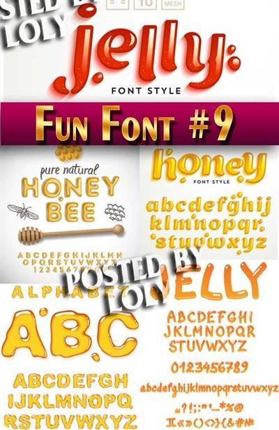 Fun Font #9 - Stock Vector