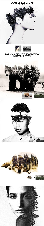 GraphicRiver - Double Exposure Photoshop Mockup 17506226