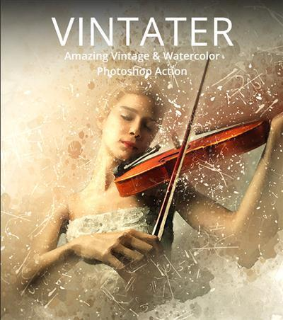 GraphicRiver - Vintater - Amazing Vintage And Watercolor Photoshop Action