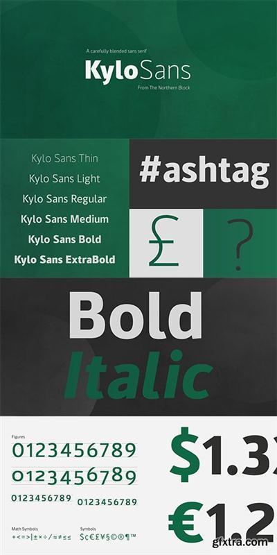 Kylo Sans Font Family 12 Fonts