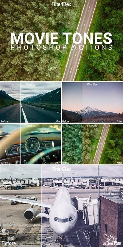 Movie Tones Photoshop Actions - 756443