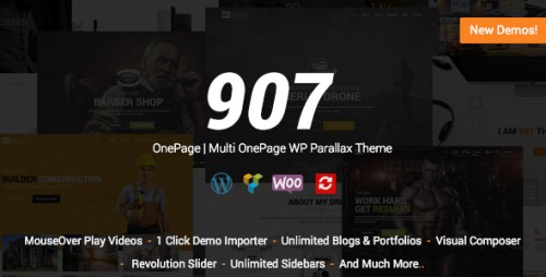 Nulled 907 v4.0.11 - Responsive WP One Page image