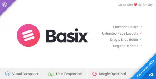 Nulled Basix v2.0.13 - Responsive WordPress Theme