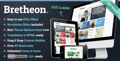 Nulled Bretheon v2.4 - Themeforest Premium WordPress Theme product photo