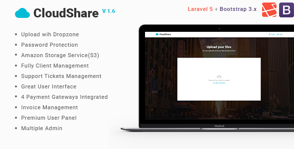 CloudShare v1.6 - Online File Sharing Application