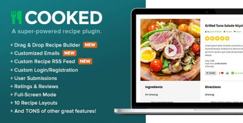 Nulled Cooked v2.4.0 - A Super-Powered Recipe Plugin - WordPress product logo
