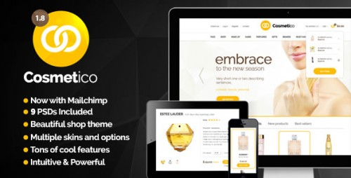Nulled Cosmetico v1.8.7 - Responsive eCommerce WordPress Theme cover