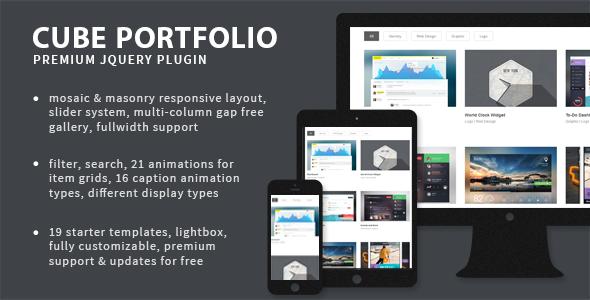 Cube Portfolio v3.2.1 - Responsive jQuery Grid Plugin