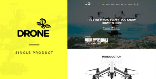 Nulled Drone - Single Product WordPress Theme file