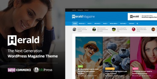 Nulled Herald v1.5.2 - News Portal & Magazine WordPress Theme picture