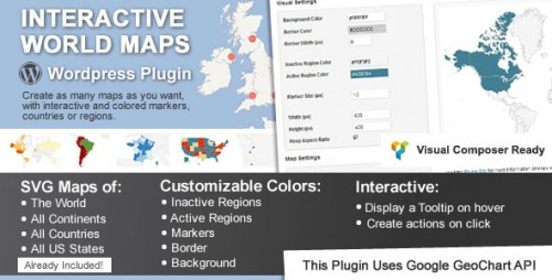 Nulled Interactive World Maps v1.91 - WordPress Plugin cover